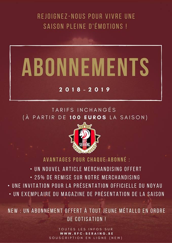 Abonnement 2018-2019