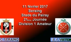 RFC SERAING – VIRTON – 11 Février 2017 – 21 ème journée