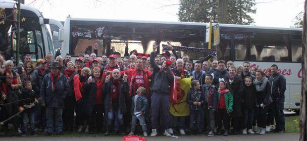 En car à Lommel avec les Red Lions