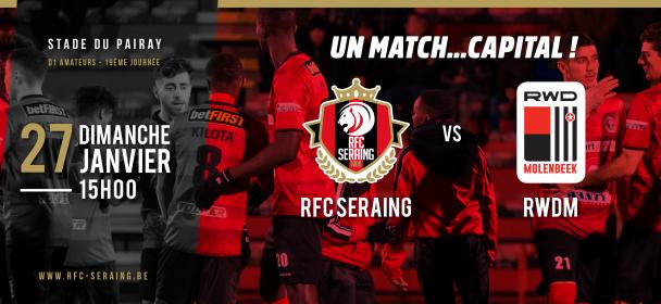 Match face au RWDM : changement d'horaire